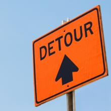 The detour will be in place over the weekend. Photo: Getty Images