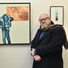 Otago Art Society incoming president Doug Hart (left) and Otago University Press marketing and...