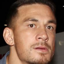 Sonny Bill Williams arrives at the Crowne Plaza, Blanchardstown in Dublin yesterday. PHOTO: GETTY...