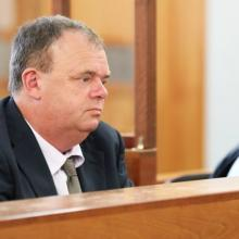 Grant Hannis awaits sentencing at the Wellington District Court. Photo: RNZ