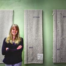 Fibre artist Hope Duncan is keen to promote the virtues of wool through her art.  PHOTO: SUPPLIED
