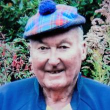 Mr McLachlan in his tartan hat. PHOTO: SUPPLIED