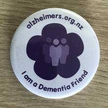 The badge identifying those who have increased awareness of dementia. PHOTO: SUPPLIED