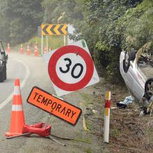 A car that rolled on State Highway 1 between Dunedin and Waitati last week was one of several...