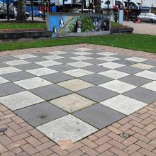 The public chessboard in the Octagon is set to be replaced by a public sculpture, Ayesha Green's...