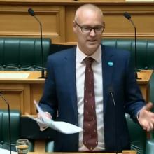 David Clark gets the ball rolling on the Commerce Amendment Bill. Photo: Parliament