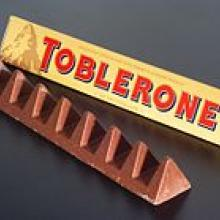 The shrunk Toblerone triangles. Photo: Wikipedia