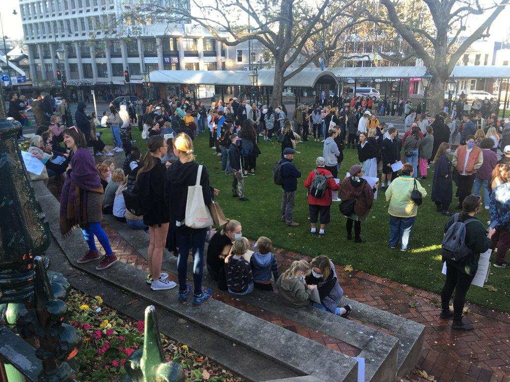 Dunedin crowd joins global protest