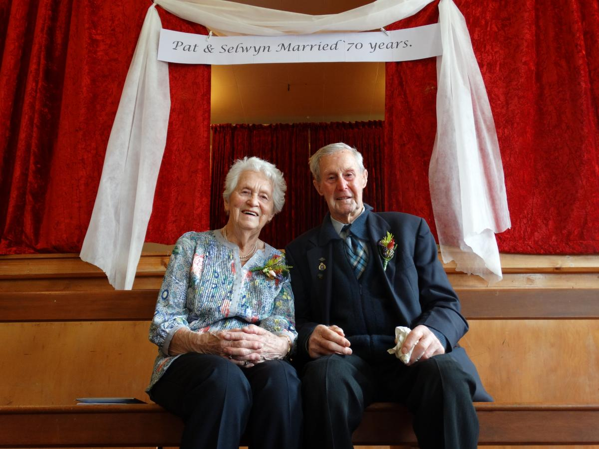 Couple come full circle for 70th anniversary