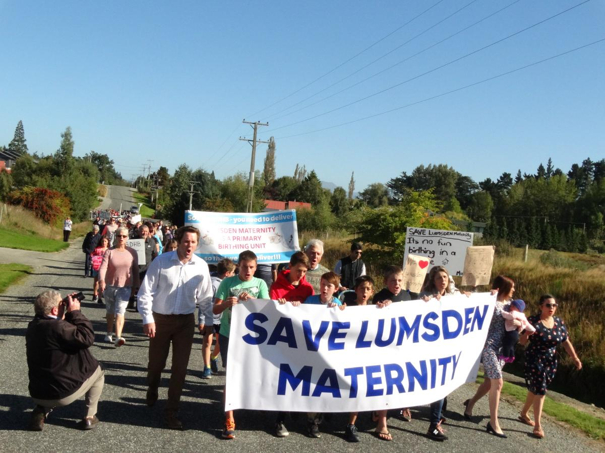Residents march in support of maternity centre
