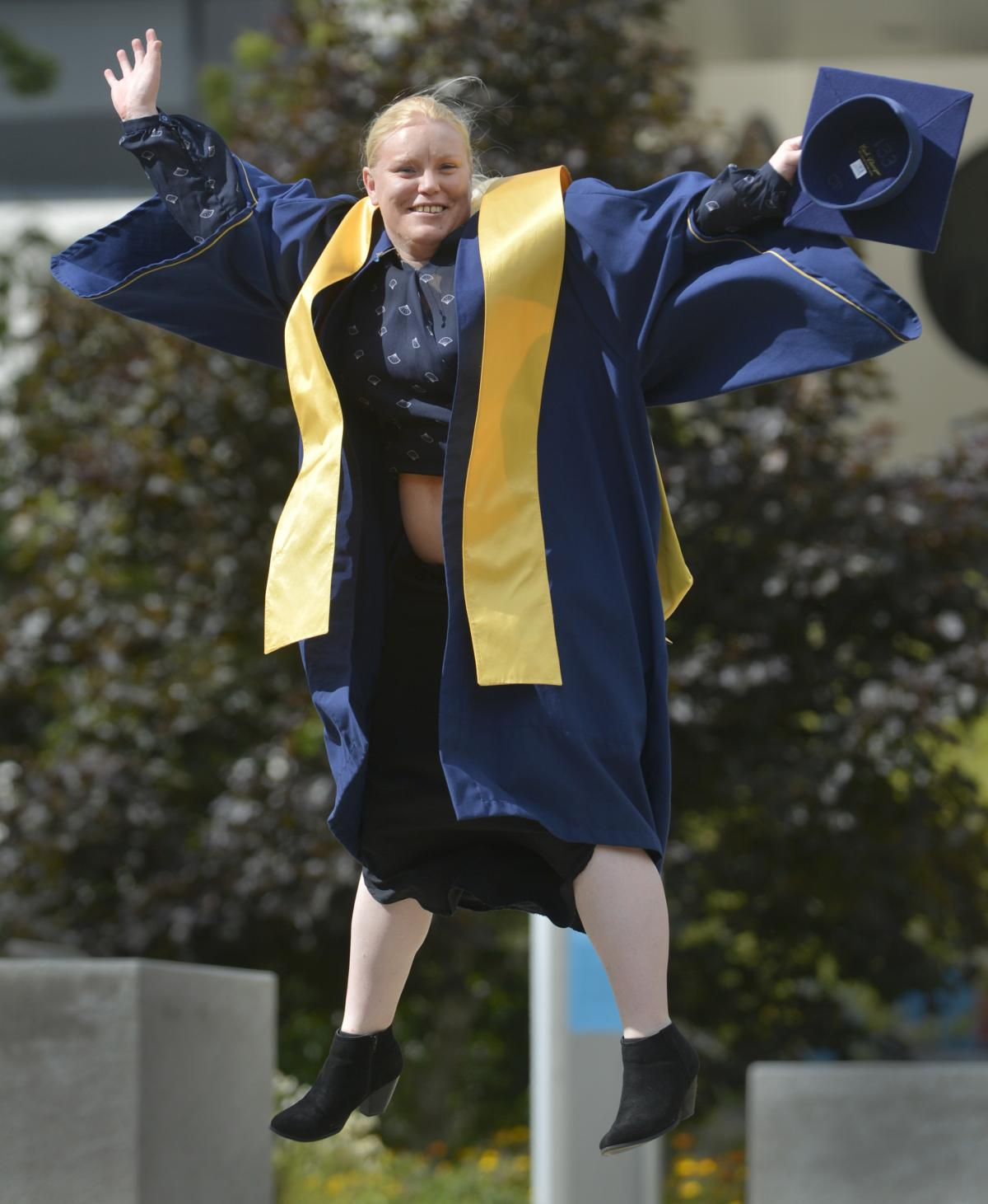 Happy to graduate after overcoming challenges