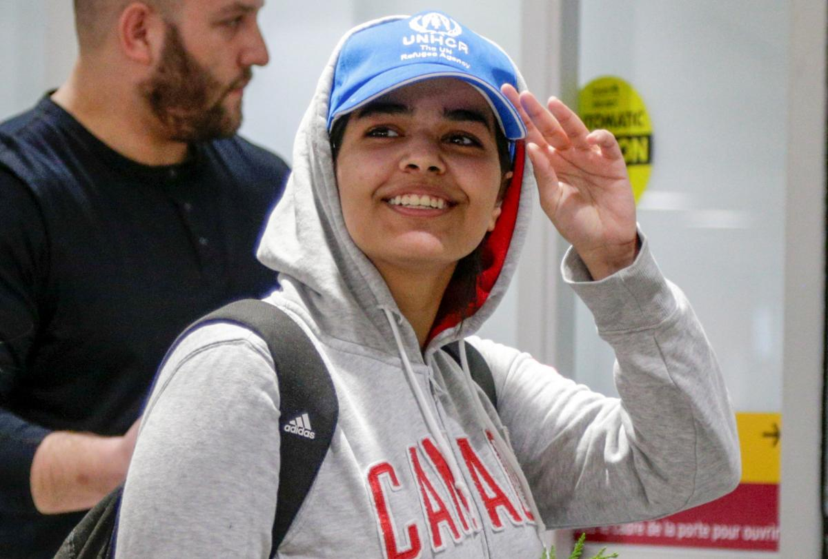 Saudi teen who fled family now 'brave Canadian'
