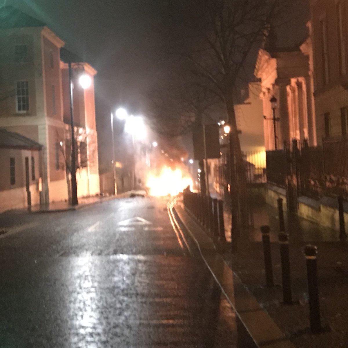 Suspected car bombing in Northern Ireland