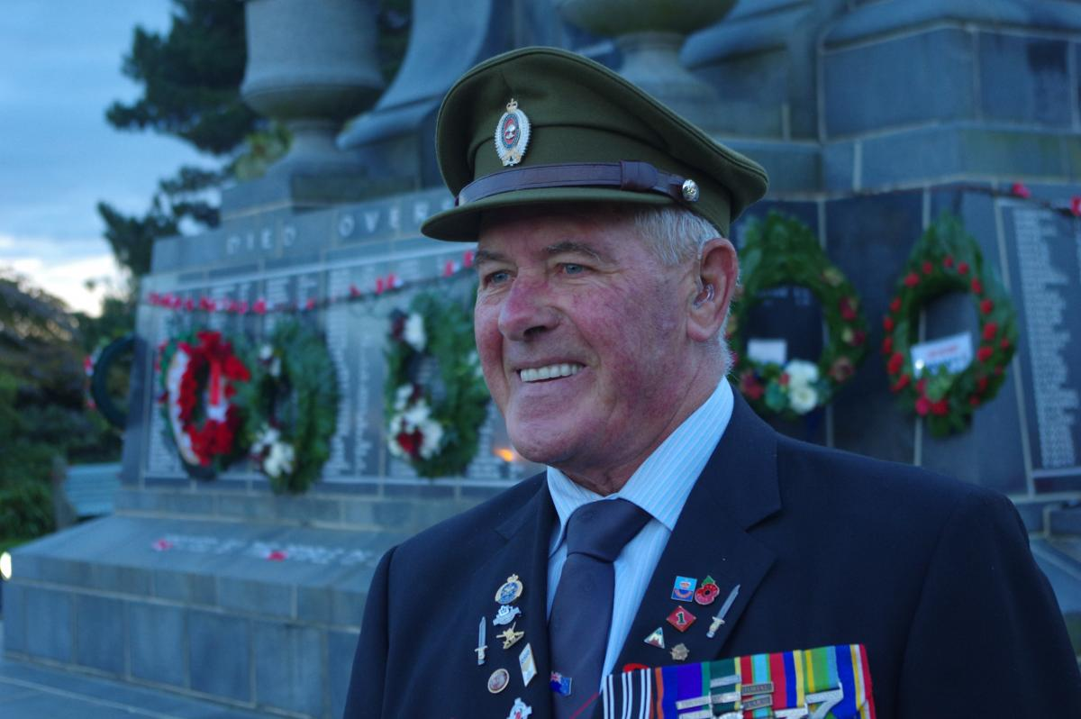 Still reporting for Anzac parade duty, 45 years on