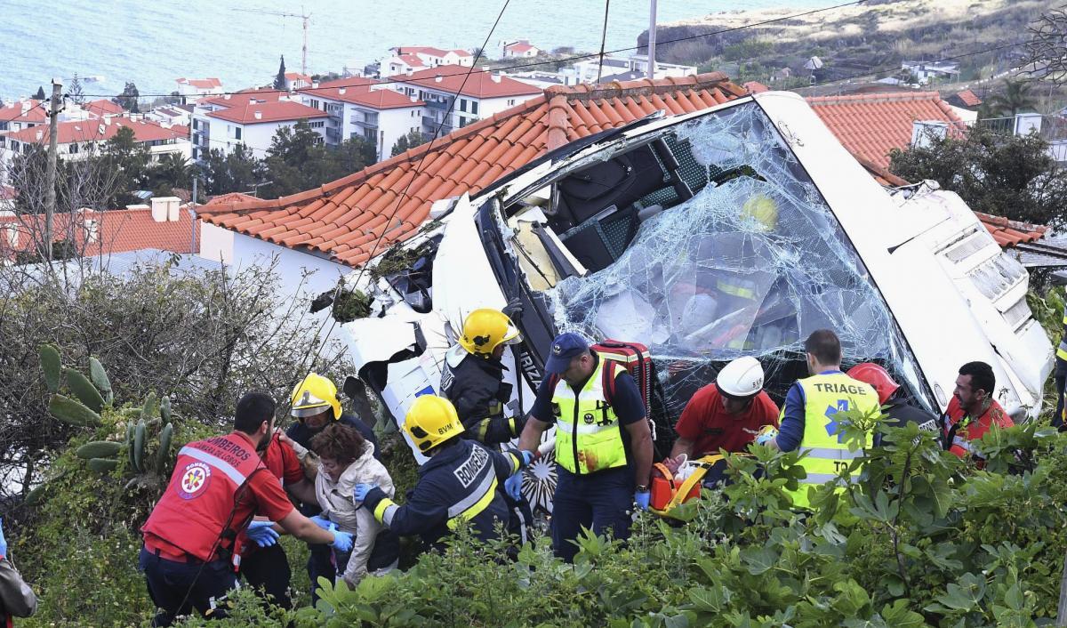 29 dead after tour bus crash on Portugal island