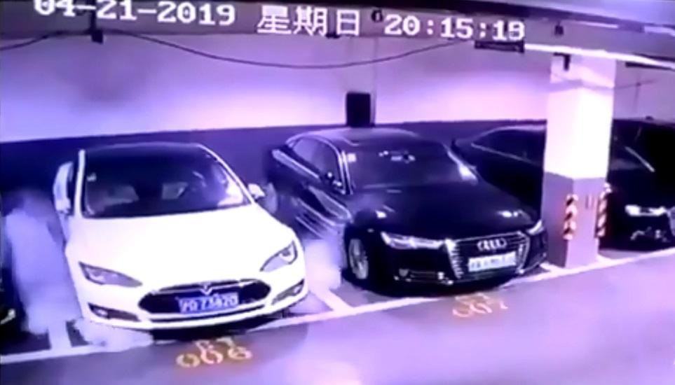 Tesla investigating video of parked car exploding in Shanghai