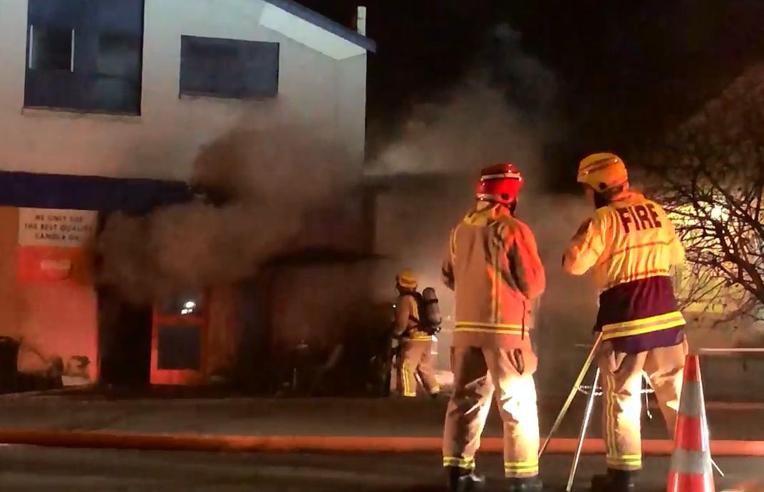 Big fire at satay restaurant in Kaikorai Valley Rd