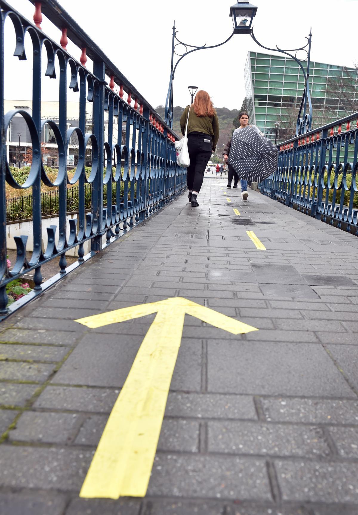 New bridge arrows part of psychology experiment   Otago