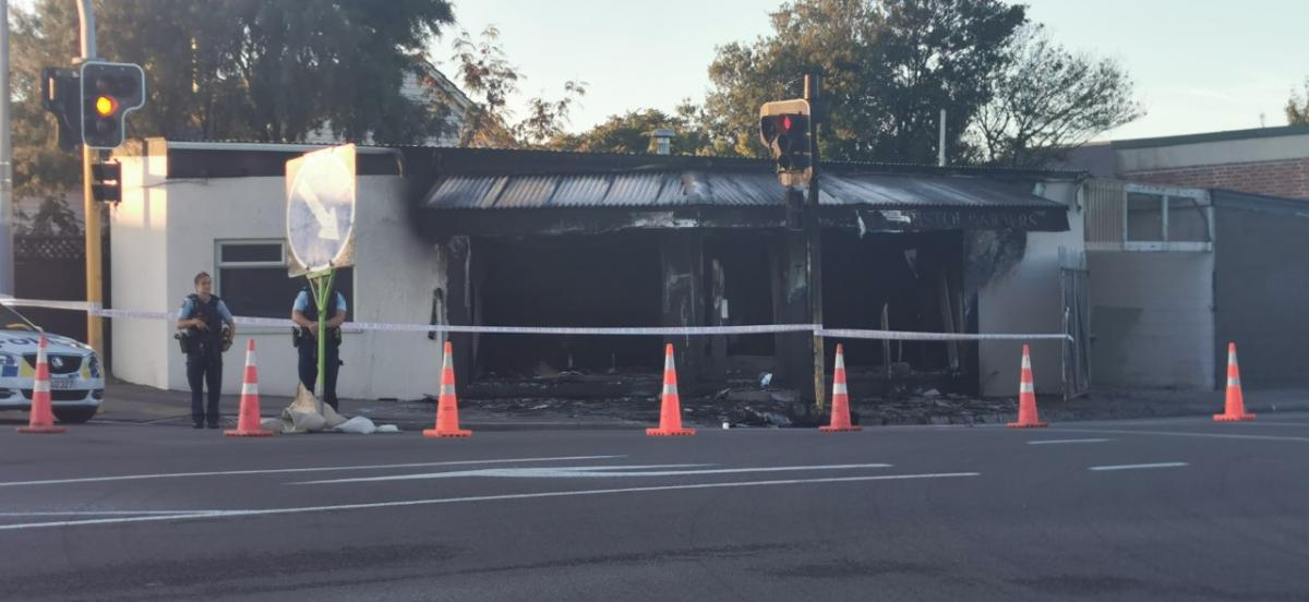 Barbershop destroyed in second blaze