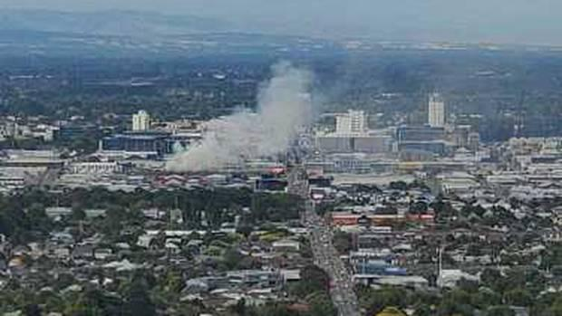 Large fire in Christchurch seen across city