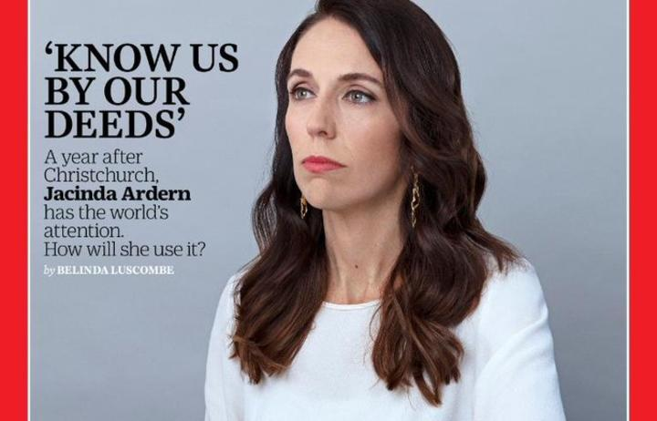Jacinda on cover of Time: 'A big day for a little NZ made thing'