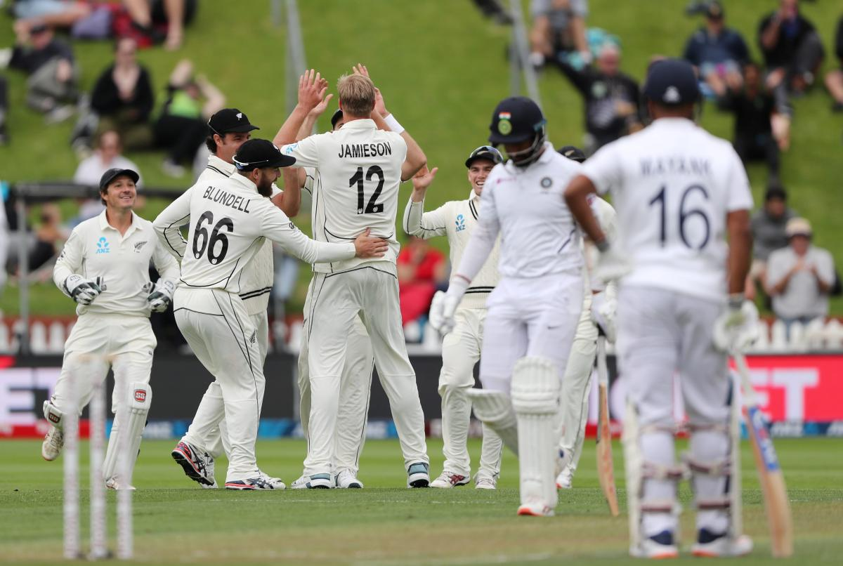 Jamieson puts NZ on top on day one against India
