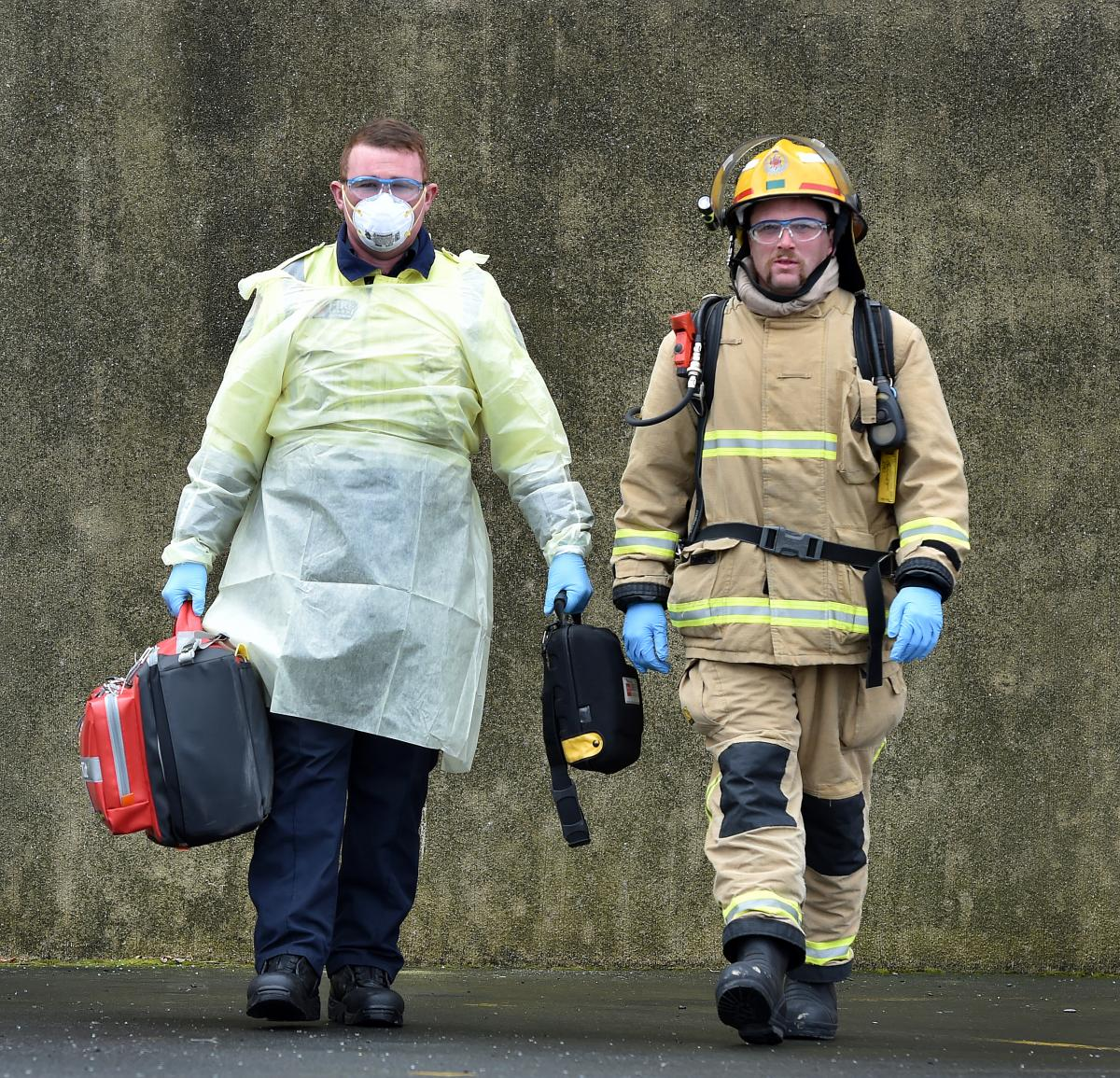 Firefighters gear up to safeguard against exposure