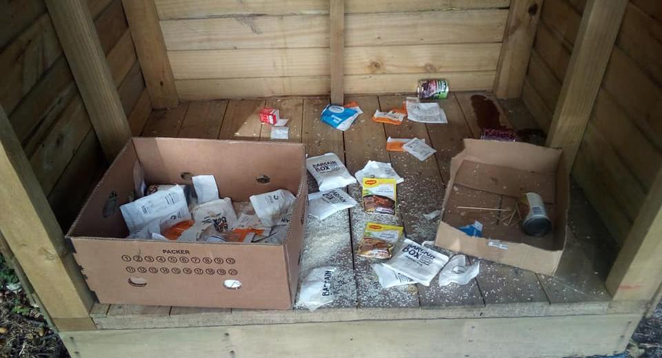 School food hub to feed the needy broken into and trashed