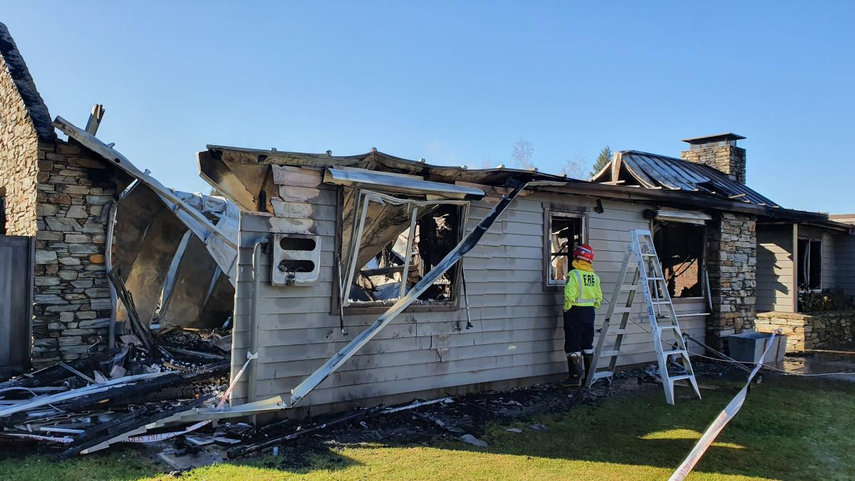 Home gutted in fast blaze before dawn