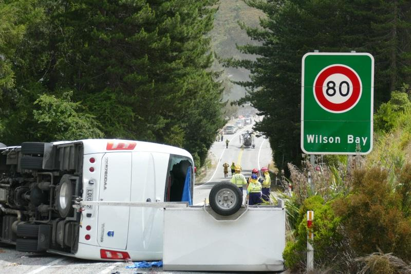 Bus driver convicted for horror crash near Queenstown