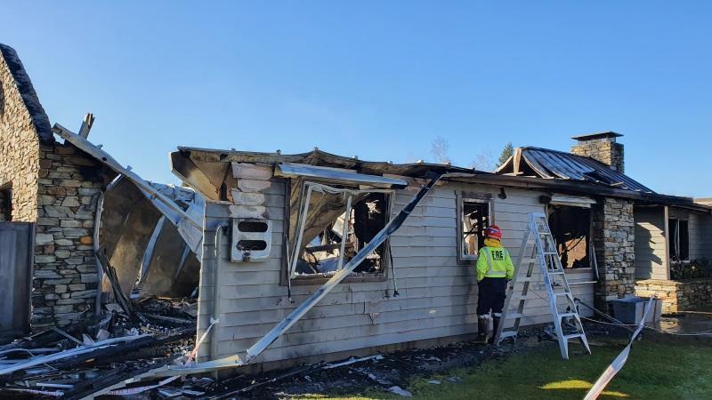 Queenstown house gutted in blaze