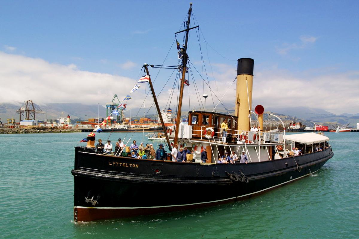 Full steam ahead for Lyttelton tug with first public sailings since March