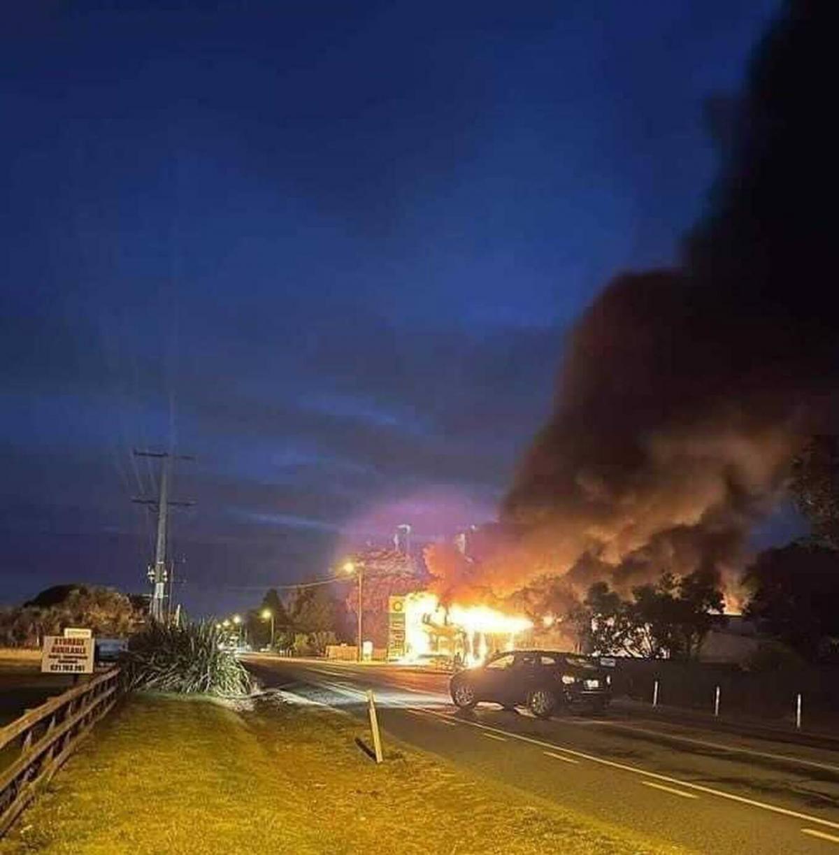 Servo inferno: Three in car when fuel ignited