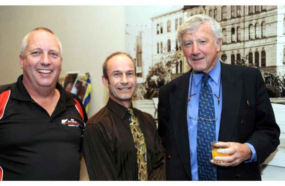 Bruce Wood, DCC roading department, Evan Matheson, DCC roading department, Nigel Pitts, Paterson...