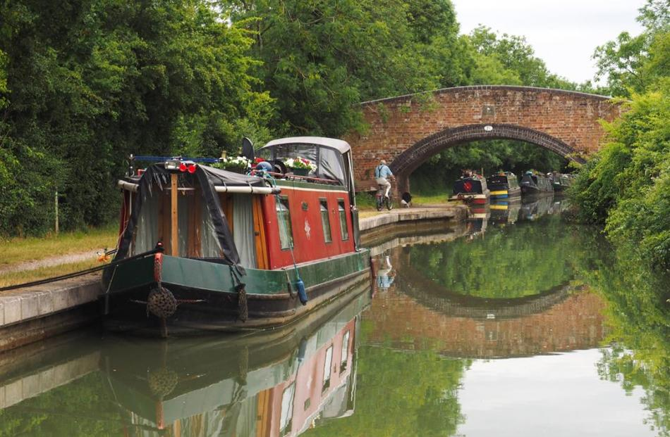 Originally built for horses, canal tow paths are today popular with walkers and cyclists.