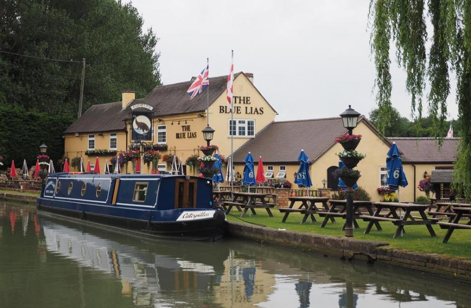 Pubs are, as much as the locks, way-points along canal routes.