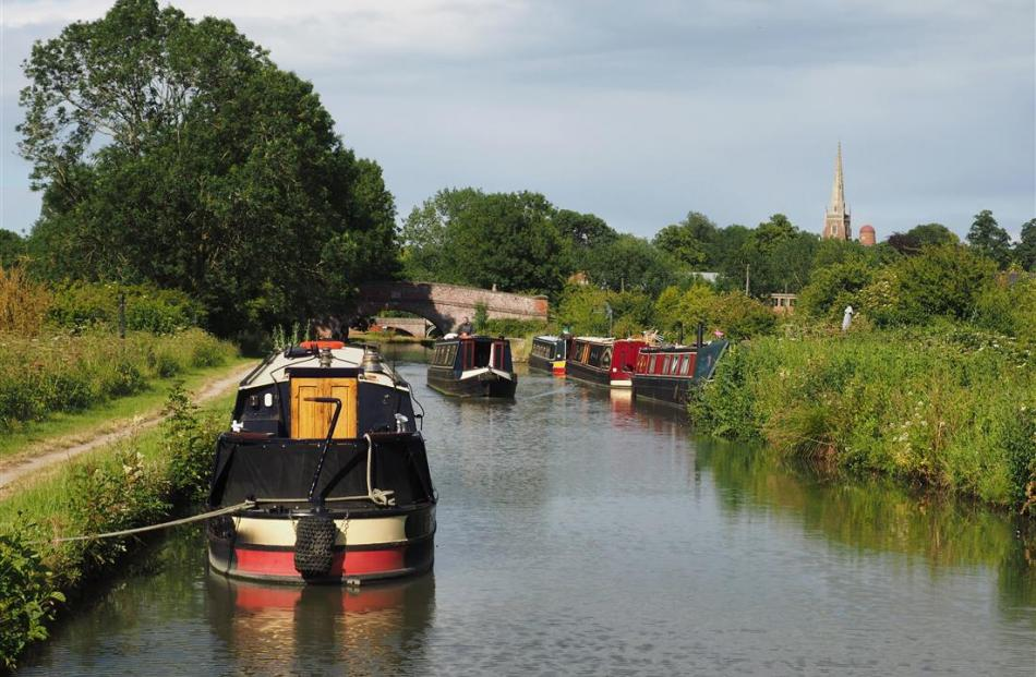 The mooring at Braunston is a peaceful end to a busy nine-lock day.