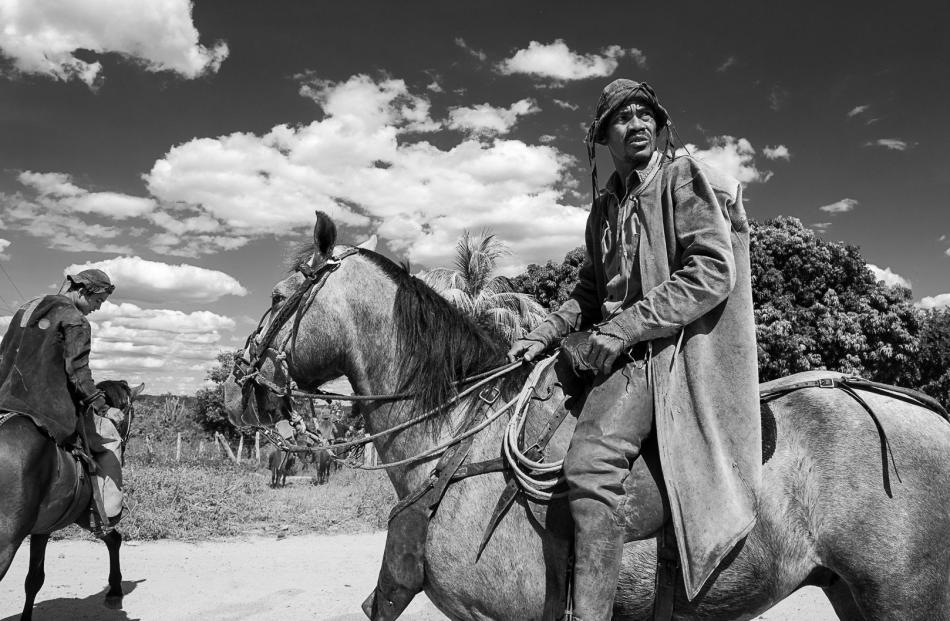 A vaqueiro  — a horseback herder —  of northeast Brazil. Photos by Bruce Hunt.
