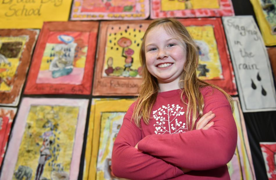 Broad Bay School pupil Mila Richardson (7). Photos by Gregor Richardson.