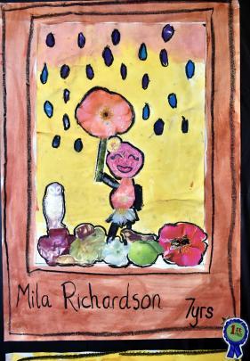 Mila Richardson's (7) award winning artwork.