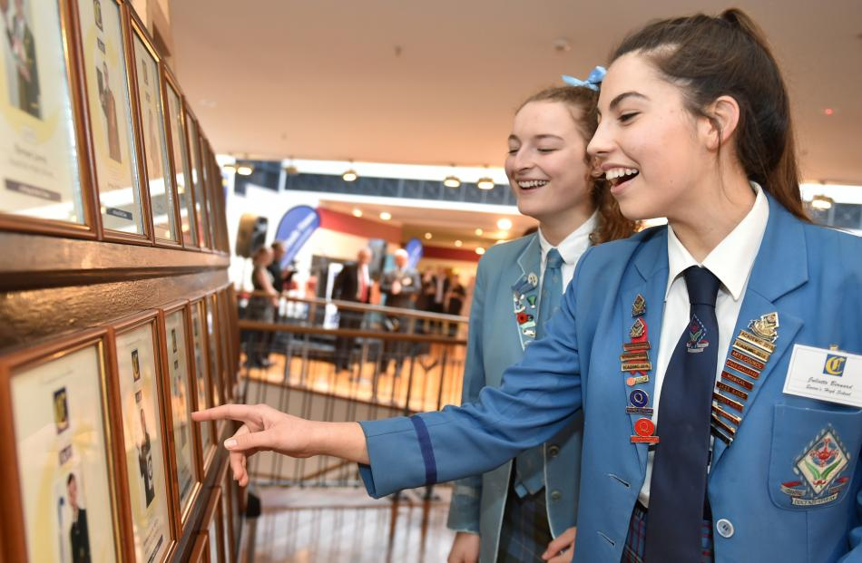 St Hilda's Collegiate School pupil Holly Armstrong (left) and Queen's High School pupil Juliette...