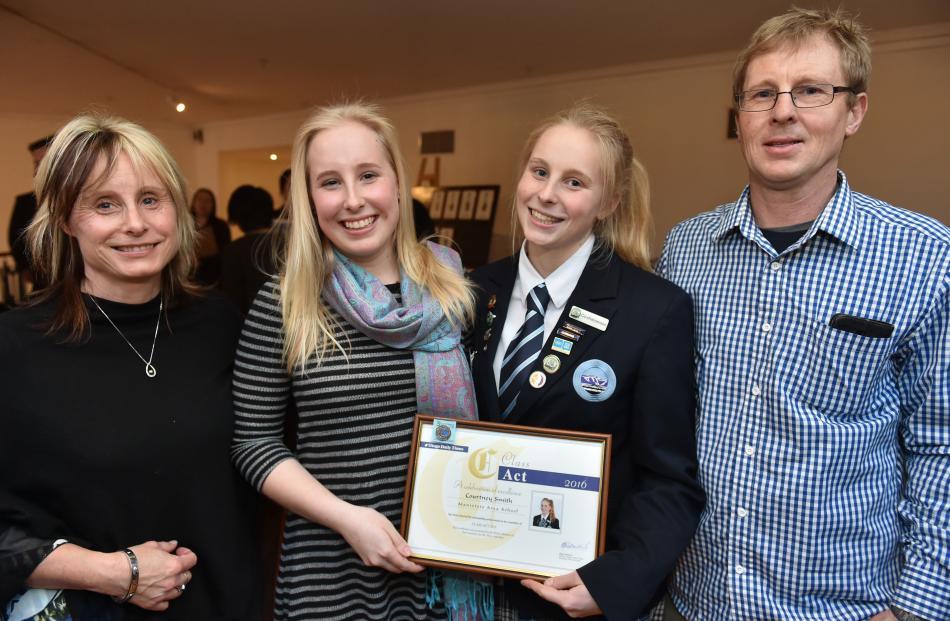 Sheryl, Ashleigh (Class Act recipient 2015), Courtney (Class Act recipient 2016) and Richard...
