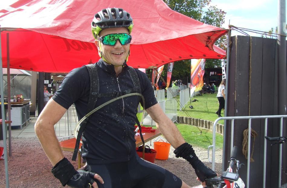 James Williamson after winning the 125km Contact Epic mountain bike race around Lake Hawea in...