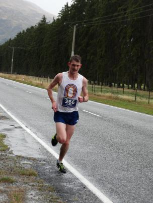 Caden Shields, of Dunedin, runs the Southern Lakes Half Marathon in 2015. PHOTO: LUCY IBBOTSON