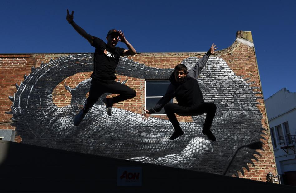 Brothers Josh (23) and Andrew (25) Cesan prepare for their Arts Festival Dunedin hip-...