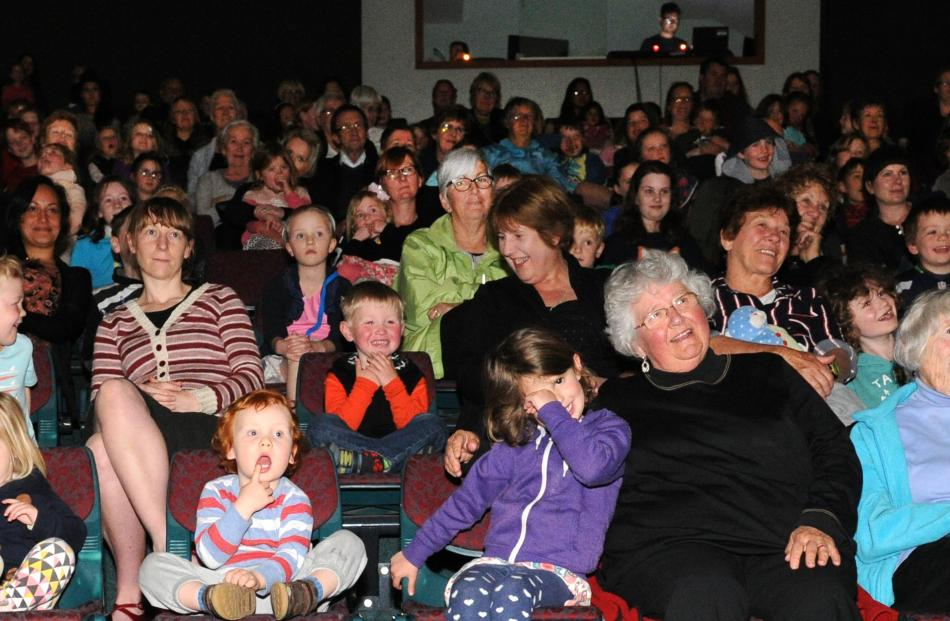 The audience is captivated.