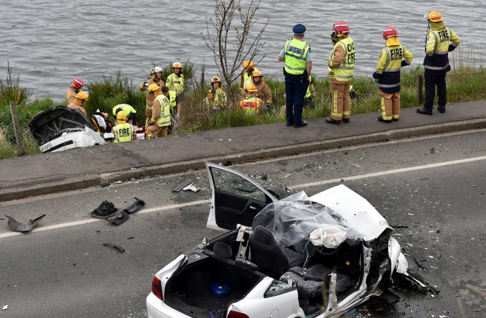 Car Crash Dunedin Yesterday
