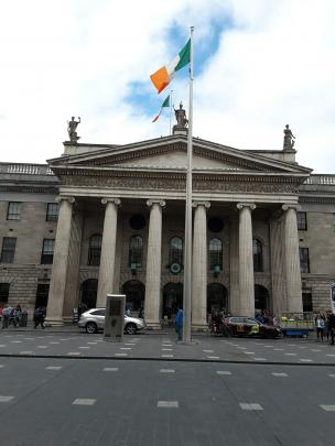 Dublin's General Post Office takes centre stage in O'Connell St.