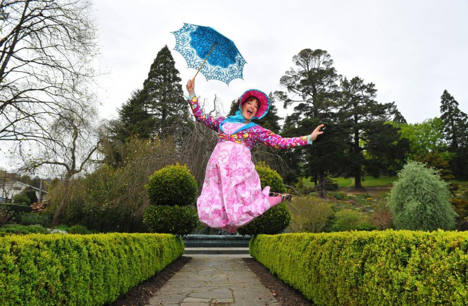 Ashton in character in her Jane Austen inspired musical.