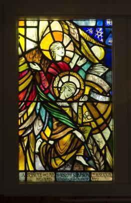 St John the Evangelist, designed by Beverley Shore Bennett, executed by Roy Miller, c.1977. St...